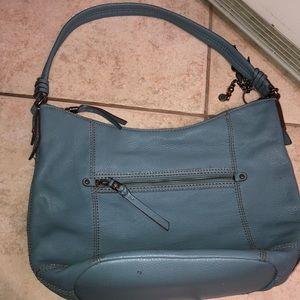 The Sak blue leather purse like new